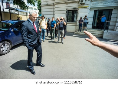 Bucharest, Romania, May 15, 2018. Liviu Dragnea, president of the Romanian Parliament`s Deputy Chamber and the leader of the PSD Social Democracy Party at the High Court of Cassation and Justice.