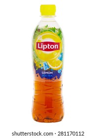 BUCHAREST, ROMANIA - MAY 24, 2015. Bottle of Lipton Ice Tea Lemon. Lipton is a brand of ice tea produced by Unilever. Lipton is now the worldâ??s leading tea brand, sold in more than 150 countries.