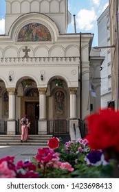 Bucharest, Romania - May 30, 2019: The Saint John New Church built by the leaders of the old furrier and dyer guilds and restored in 1818.