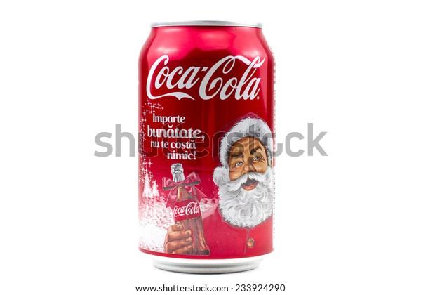 Coca Cola Christmas Bottle.Bucharest Romania November 262014330ml Coca Cola Stock Photo