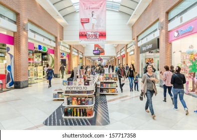 BUCHAREST, ROMANIA - OCTOBER 09: AFI Cotroceni Shopping Mall on October 09, 2013 in Bucharest, Romania. One of the most important mall in town, it is located in the central-western part of the city.