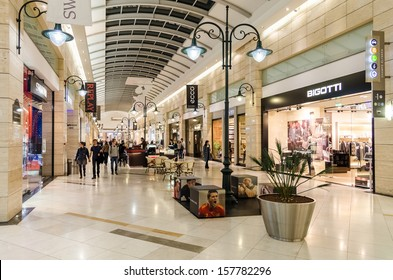 BUCHAREST, ROMANIA - OCTOBER 09: AFI Cotroceni Shopping Mall on October 09, 2013 in Bucharest, Romania. It is located in the central-western part of the city.