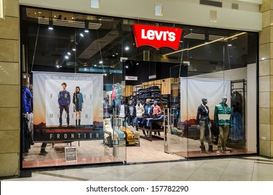 BUCHAREST, ROMANIA - OCTOBER 09: Levi Strauss store on October 09, 2013 in Bucharest, Romania. Founded in 1853, Levi Strauss is an American clothing company best known for its brand of denim jeans.