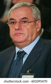 Bucharest, Romania, October 1, 2009: Politician Dan Ioan Popescu participates at the Atlantic Energy Forum in Bucharest.