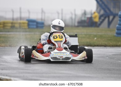 BUCHAREST, ROMANIA - OCTOBER 17: DAVID DUGAESESCU competing in FRAS Dunlop Karting Championship. Stage 3. October 17, 2010 in BUCHAREST, ROMANIA.