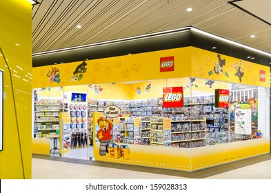 BUCHAREST, ROMANIA - OCTOBER 18: Lego Shop on October 18, 2013 in Bucharest, Romania. The company's flagship product consists of colourful interlocking plastic bricks, array of gears and other parts.