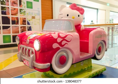 BUCHAREST, ROMANIA - OCTOBER 23: Hello Kitty on October 23, 2012 in Bucharest, Romania. Hello Kitty is a fictional character produced by the Japanese company Sanrio, first designed by Yuko Shimizu.