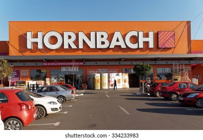 BUCHAREST, ROMANIA - OCTOBER 28, 2015. Hornbach store in Bucharest. Hornbach is a German store chain offering home improvement and do-it-yourself goods, with 12710 employees in 2008.