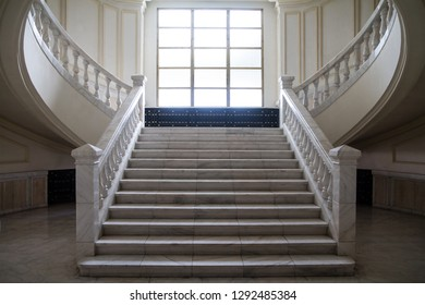 Bucharest, Romania - Sep 18, 2018: Interior Inside the building of Parliament Palace in Bucharest Romania