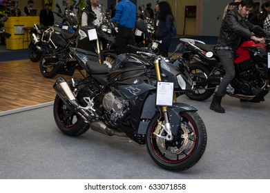 BUCHAREST SMAEB ROMEXPO April 21-23 2017.Motorcycle Brand BMW Model S 1000 R . Conquer the roads - on the BMW S1000R.