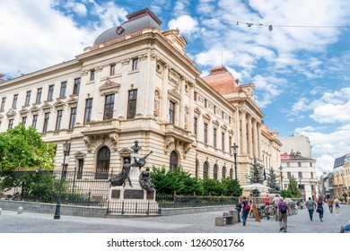 Bucharest/Romania - 07.16.2018: the view on the street in Bucharest in Romania.