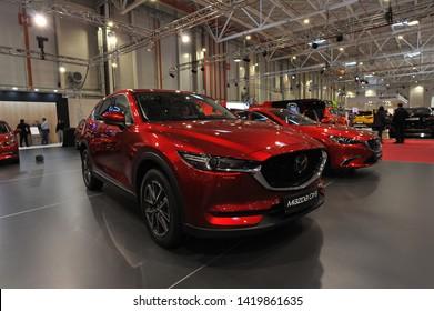 Bucharest,Romania.MARCH 31,2018 : new  Mazda CX5 2018 car presented at the Salonul International de automobile Bucharest