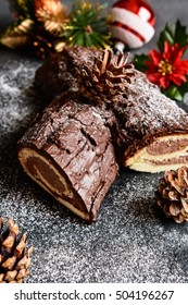 Buche de Noel - traditional French Christmas cake