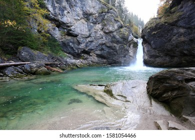 The Buchenegger waterfalls in Bavaria in the Allgäu