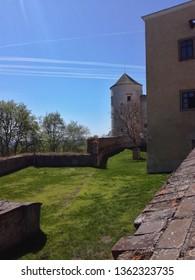 At Buchlov castle in the Czech Republic.