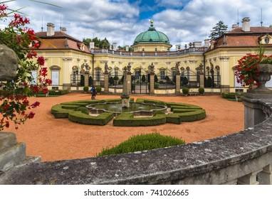 BUCHLOVICE, CZECH REPUBLIC-AUGUST 13, 2017:Buchlovice Castle in Moravia, Czech Republic