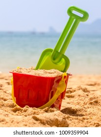Bucket By The Ocean Shows Summer Holiday Vacation