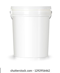 Bucket with lid and handle