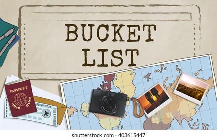 Bucket List Experience Inspiration Motivation Aspirations Concept
