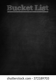 Bucket list on blackboard