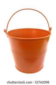Bucket metal orange