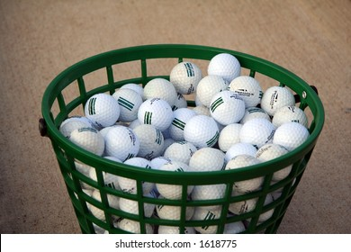 Bucket of Practice Golf Balls