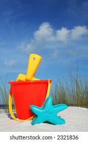 Bucket and Spade on the seashore