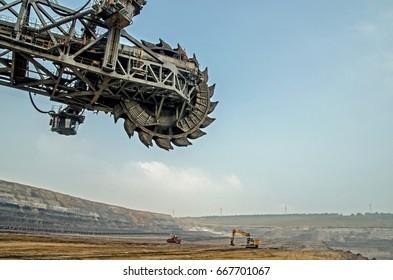 Bucket wheel excavator in Germany