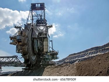 Bucket wheel excavator in West Germany