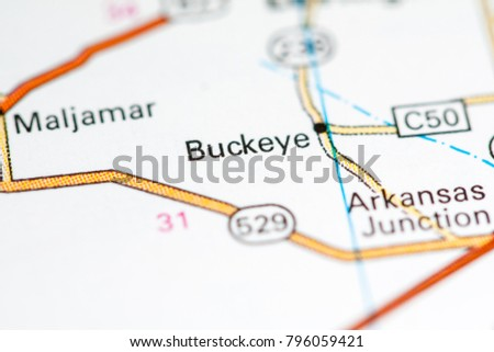 Buckeye New Mexico USA On Map Stockfoto (Jetzt bearbeiten) 796059421 ...