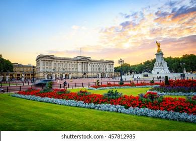 Buckingham Palace in London, Vereinigtes Königreich.