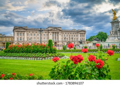 Buckingham Palace on sunny spring day in London. England