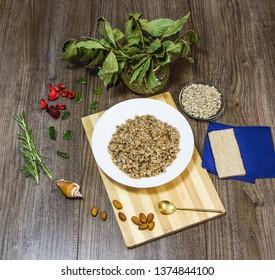 buckwheat in a bowl