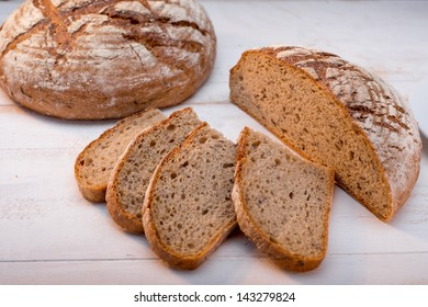 buckwheat bread on white background