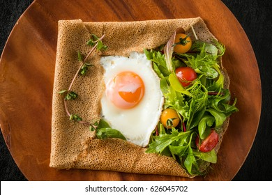 Buckwheat crepes (galette)French food