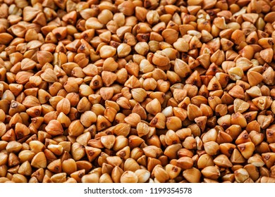 buckwheat food background. Useful cereals for vegetarians