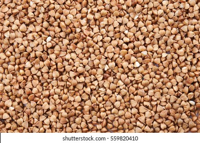 buckwheat grain as background. top view