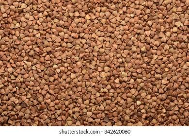 Buckwheat grain seeds background