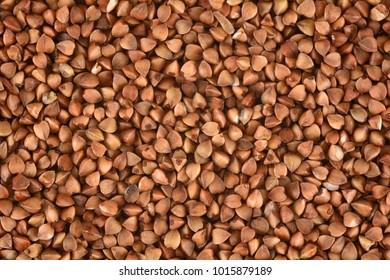 Buckwheat groats background.