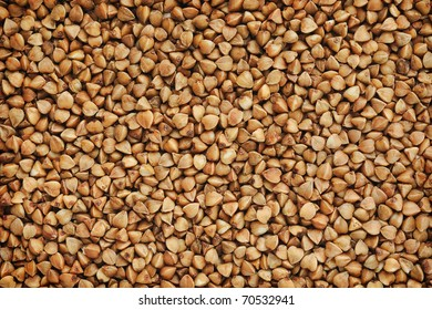 Buckwheat, horizontal natural background