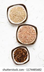 buckwheat, millet, sorghum, brown rice