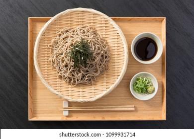 Buckwheat noodles of Japanese food, Zaru soba