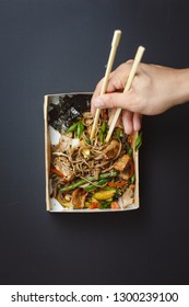 Buckwheat noodles with pork and curry sauce
