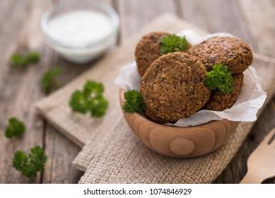Buckwheat patties with parsley