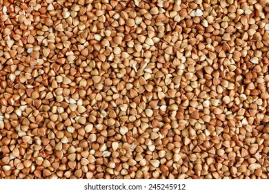 Buckwheat seeds background