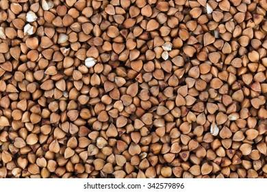 Buckwheat texture - food background