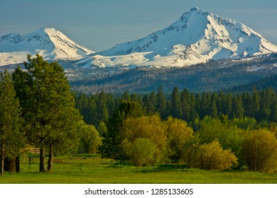 Bucolic landscape, Black Butte Ranch, Sisters, Oregon, USA.