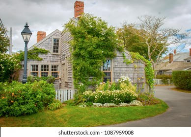 Bucolic village scene in Siasconset, Nantucket, MA