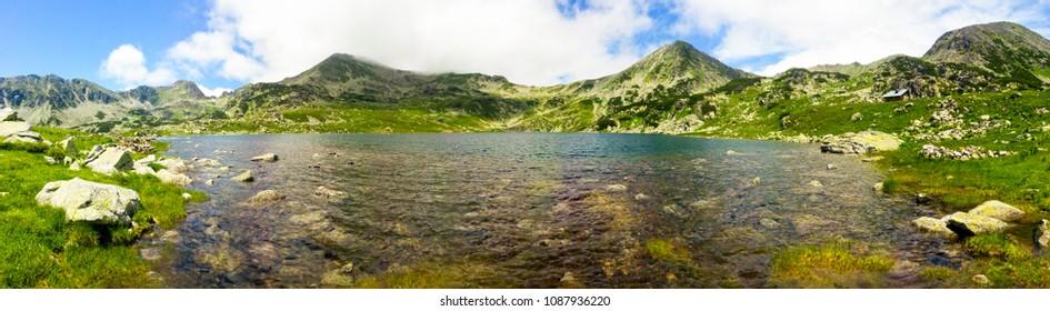 Bucura Lake in the National Park Retezat / Glacial lake, Carpathians mountains ,Romania, Europe