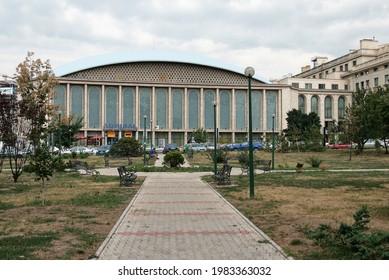 Bucuresti, Romania - 6 Aug 2007: Iconic Sala Palatului - venue for concerts and live performances.